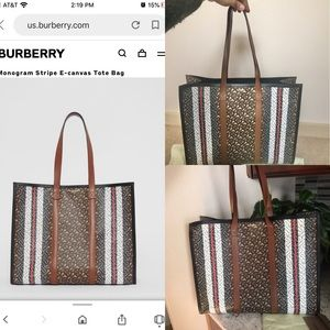 Authentic BURBERRY TB Monogram Tote Bag